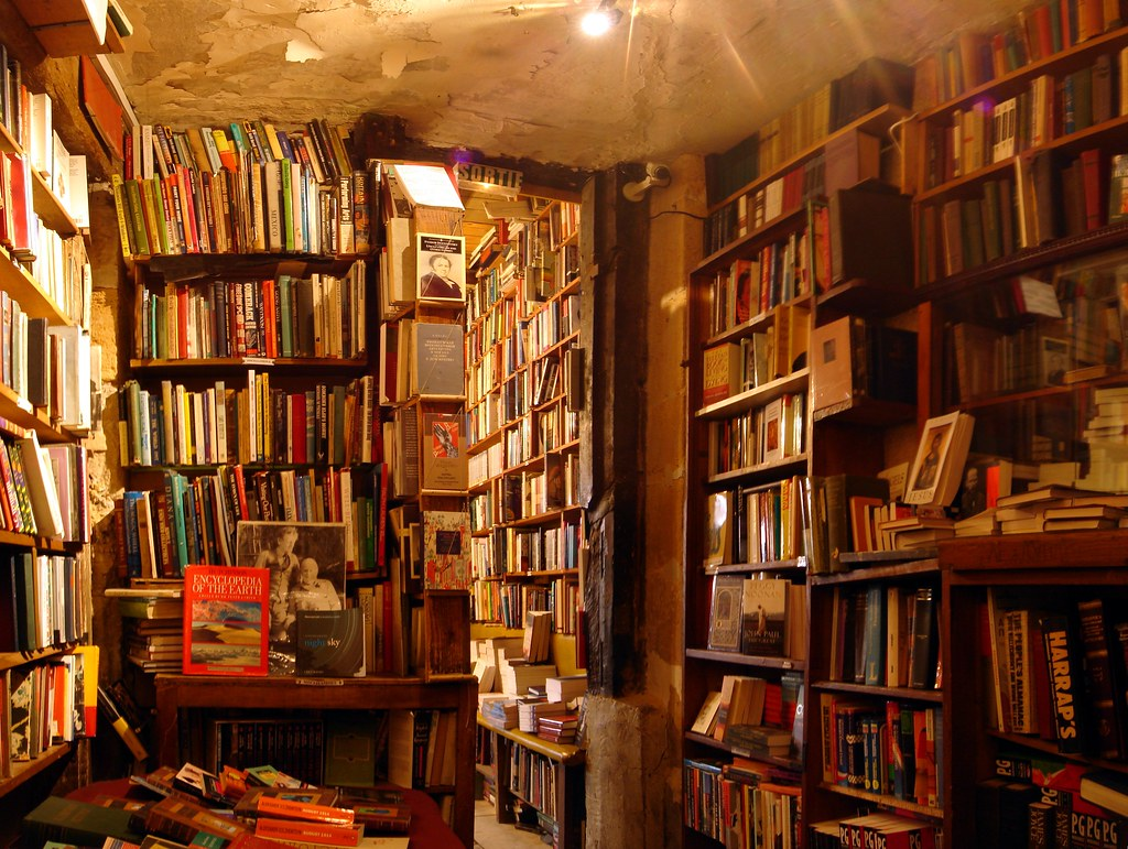 A photo of the Shakespeare and Company bookshop